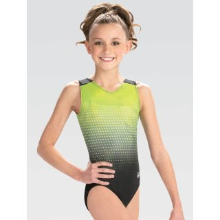 GK 3858 Ärmelloser Turnanzug/Gymnastikanzug - Branded V-Neck key lime Leotard