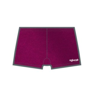 AGIVA 3705 Hot-Pant Turnen/Cheer/Akrobatic aus Lackstoff F: cassis-366