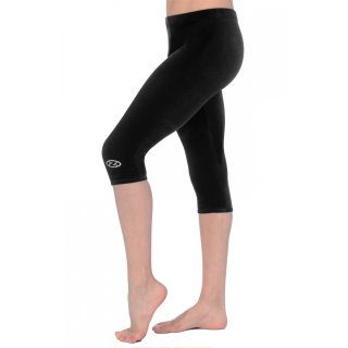 The Zone 3/4 Leggings aus glattem Samt F: schwarz