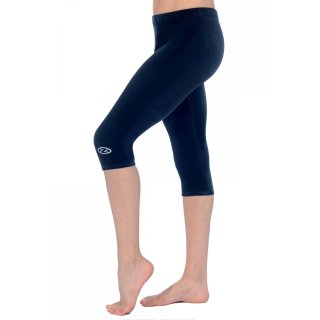 The Zone 3/4 Leggings aus glattem Samt F: dunkelblau/navy
