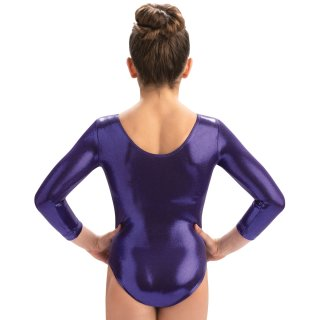 GK 3457 Q18 3/4 Arm Turnanzug/Gymnastikanzug - F: purple *TOP*