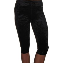 AGIVA 3733 Caprihose aus Samt in schwarz crashed *TOP* 40