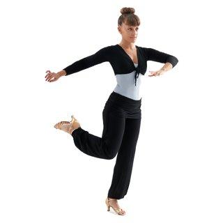 0da2c1d87d Intermezzo 5118 Top Damen-Tanzhose mit Röckchen und Fußbündchen - Ballroom  ...