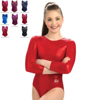 GK 3457 B81 3/4 Arm Turnanzug/Gymnastikanzug - F: red + Strassoptionen *TOP*