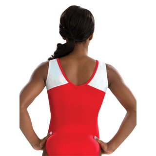 GK 3722 Ärmelloser Turnanzug/Gymnastikanzug - Red Superstar Leotard