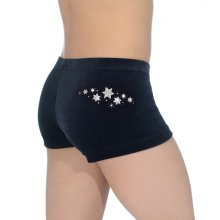 The Zone Shorty/Hipster Star aus glattem Samt F: black