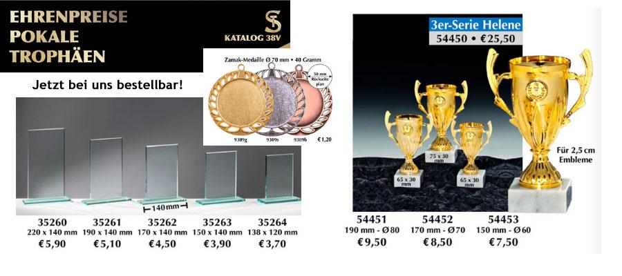 NEU! Pokale und Medaillen für Ihr Sport-Event